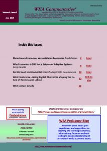 WEA Commentaries Issue Vol 9, Issue 2