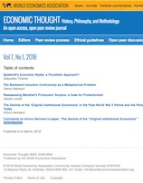 Economic Thought: Volume 7, No 1, 2018
