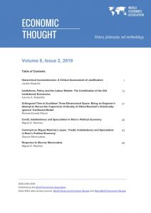 Economic Thought Volume 8, Issue 2 published