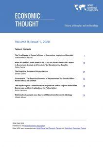 Economic Thought Vol 9 No 1 published