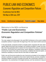Law and Economics Conference opens call for papers