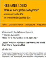 Food and Justice: Ideas for a new global food agenda? Conference