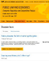 Public Law and Economics Conference