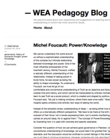 WEA Pedagogy Blog